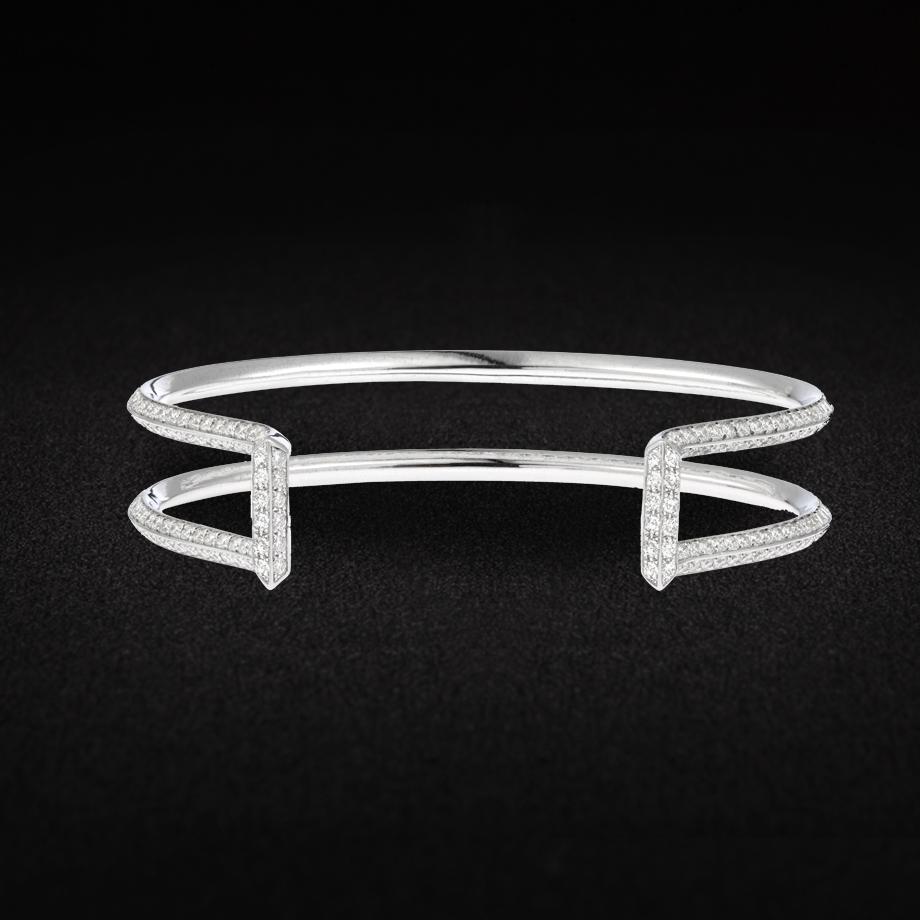 Bracelet Or Blanc 378 diamants de 5,67 carats