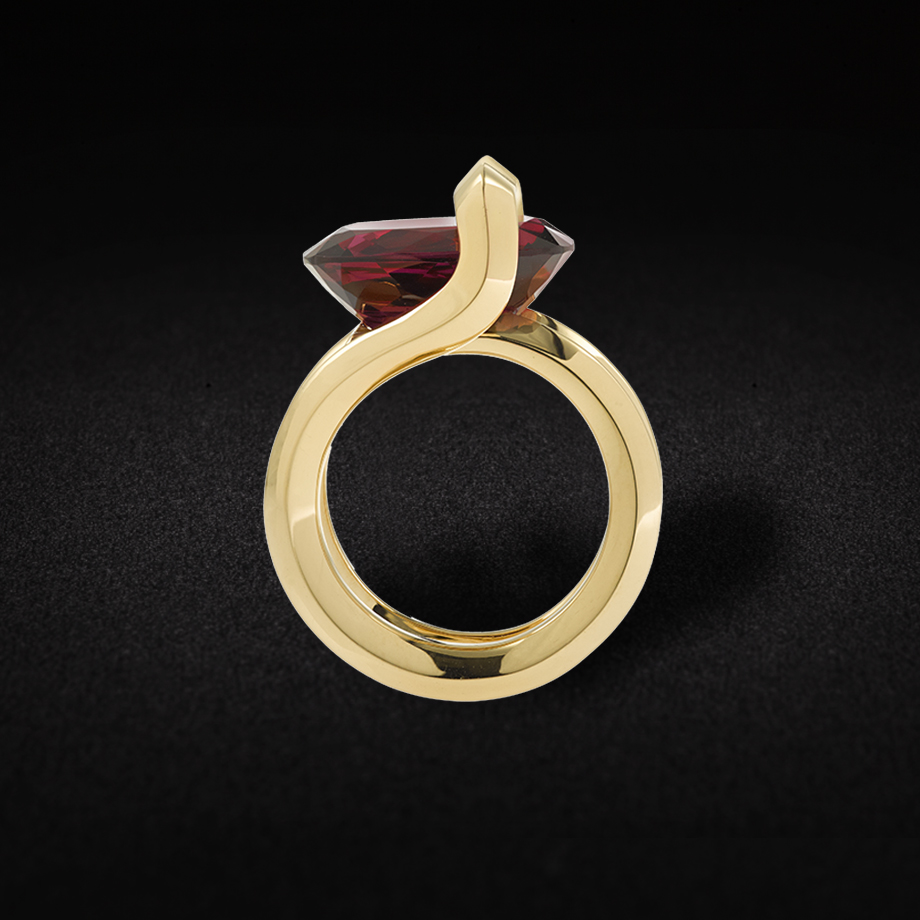 ring Grenat V2V PAris Jewellery
