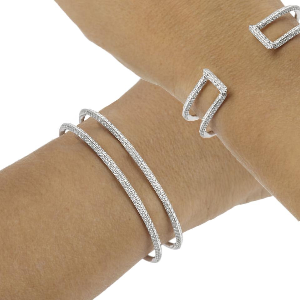 Bracelet or blanc et 378 diamants verso V2V Paris