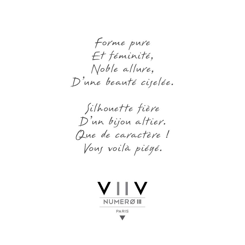 Poeme Bague or blanc 8 diamants - V2V Paris joaillerie